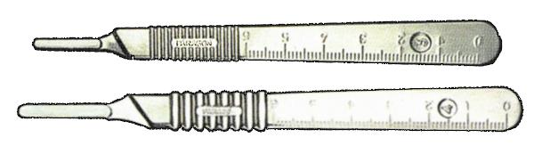 Ручка для скальпеля метал (Парагон)